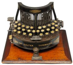 """Martin Howard from Toronto's Howard Collection writes, """"The Salter is one of England's first typewriters and is a stunning example of a piece of Victorian engineering. It was made by The Geo. Salte..."""