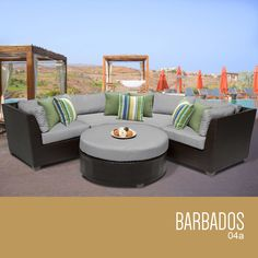 Beau Barbados 4 Piece Outdoor Wicker Patio Furniture Set 04a Online Furniture  Stores, Woven Wrap,