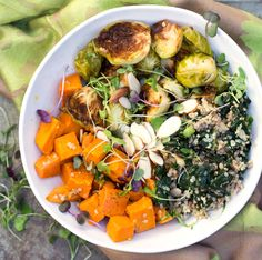 "A ""Buddha Bowl"" is a big bowl of beautiful delicious food that's super good for you. It's the ultimate satisfying nutritious meal."