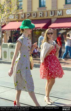 """Dapper Day"" at Disney - cute dress!"