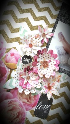 'Love This' layout [view 2] by Amanda Baldwin for Kaisercraft 'All that Glitters' collection ~ Scrapbook Pages 3.