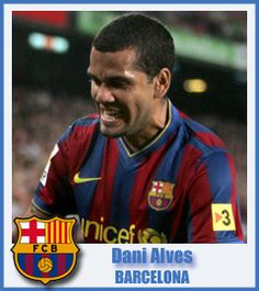Dani Alves - Football Club Barcelona - Defender - Juazeiro, Brazil - 6 May 1983 Football Cards, Baseball Cards, Fc Barcelona Players, Spain Football, Dani Alves, Play Soccer, Brazil, Hairstyles, Club