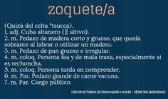 Zoquete/a
