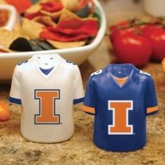 Illinois Fighting Illini Gameday Jersey Salt and Pepper Shakers