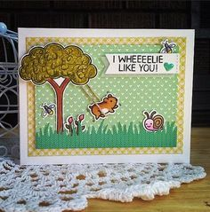 Lawnscaping Challenge: Spotted and Hearted - March   card by Coralynn Murray