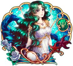The most beautiful Princess of the Seas and Oceans, Lady of Deep Waters Art © Me Sailor Neptune © Naoko Takeuchi Clothing design © Me