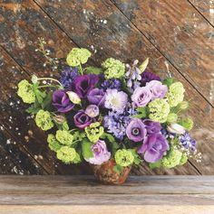24 best spring flower arrangements images on pinterest spring heather barries spring palette arrangements anemones delphinium hyacinths lisianthus nigella mightylinksfo