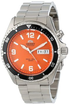 "Amazon.com: Orient Men's CEM65001M ""Orange Mako"" Stainless Steel Automatic Dive Watch: Watches"