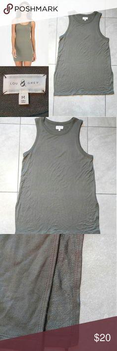 "Lou & Grey Tank Dress Lou & Grey Tank Dress Size Medium Color: Green Side slits. Armpit to armpit: 18"" Side slit: 8"" Length: 29.5"" Lou & Grey Dresses"