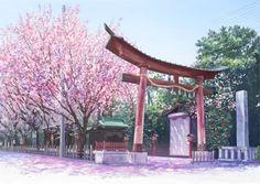 Sakura Shrine Background