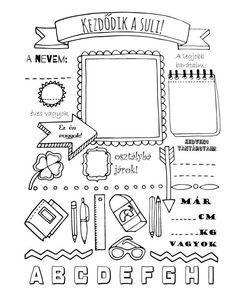 Kreatív iskolakezdés – ingyenesen letölthető színező | minamole Pre K Worksheets, School Coloring Pages, Planner Pages, School Projects, Holidays And Events, Classroom Decor, Classroom Management, Kids Learning, Art For Kids