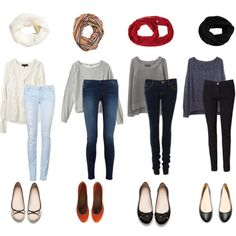 oversized sweaters and skinnies. yup. substitute flats for heels/sweater for blouse and add a blazer for biz casual.
