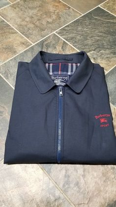 2285f8fa33814 Vintage Burberrys Sport London Mens Blue Zip-Front Jacket Size reg. 50 xl  #fashion #clothing #shoes #accessories #mensclothing #coatsjackets (ebay  link)