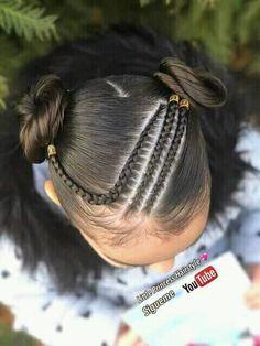 Hair styles for girls toddler 33 Best ideas Toddler Braided Hairstyles, Girls Natural Hairstyles, Teenage Hairstyles, Baddie Hairstyles, Little Girl Hairstyles, Cool Hairstyles, Hairdos, Girl Hair Dos, Baby Girl Hair