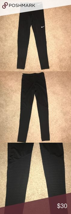 Nike Pro leggings M Designed for outdoor activities and high-intensity training.  I wore these once as a base layer for skiiing. Otherwise unworn. Nike Pants Leggings