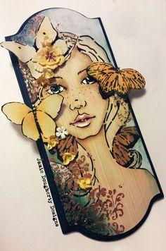 Flutterby Bloom Girl Jamie Dougherty *Prima - Scrapbook.com