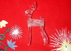 for sale on eBay - Vintage Hand Spun Blown GLASS REINDEER Stag ORNAMENT Figurine MID CENTURY MODERN