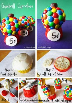Gumball cupcakes  Shopping online and booking travel is just not as much fun as booking travel and shopping with a Dubli Free or VIP membership and getting cash back for those purchases. http://www.dubli.com/T0US1B3FL