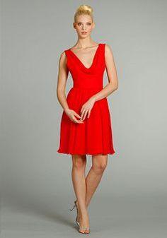 Cowl Short Length A line Natural Waist Chiffon Sleeveless Bridesmaid Dresses - Angeldress.co.uk