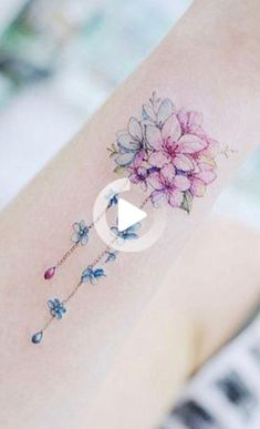 Cute Watercolor Bouquet of Flowers Arm Tattoo Ideas for Women - www.MyBodiArt.com #wristtattoos Cool Wrist Tattoos, Arm Tattoos For Women, Sleeve Tattoos, Watercolor Flowers, Watercolor Tattoo, Bouquet, Wild Style, Flower Tattoos, Carino