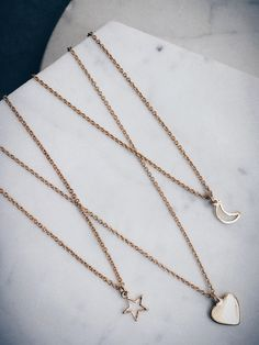 Layer up your 14k #BingBangxUO chains, they looks so elegant worn together!