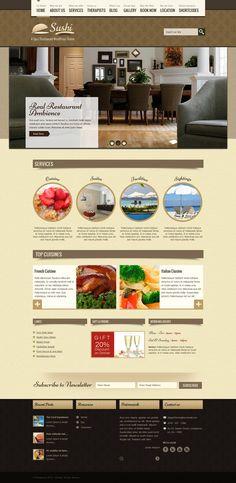 Spa + Restaurant (WP + PSD) Theme by sandracz.deviantart.com on @deviantART