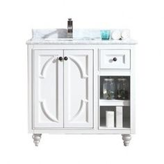 LUXE 313613-36 36 Inch One Basin Bathroom Vanity Made of Solid Wood