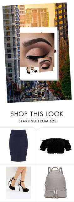 """Untitled #22"" by heybruhcassettari on Polyvore featuring Zizzi, ASOS, Michael Kors and Alison Lou"