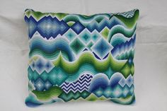 Bargello Patterns, Bargello Needlepoint, Bargello Quilts, Needlepoint Pillows, Embroidery Thread, Embroidery Designs, Etsy Embroidery, Needlework, Cross Stitch
