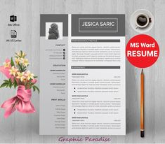 12 professional ms word resume template for best price, resume template, resume template with matching cover letter, teacher resume template Creative Cv Template, Teacher Resume Template, Modern Resume Template, Resume Template Free, Free Resume, Resume Cv, Resume Tips, Cv Tips, Resume Ideas