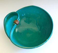 Modern Hostess Bowl handmade ceramic dish by ocpottery on Etsy, $40.00
