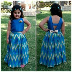 I will do the skirt as an umbrella style. As well 3 little white assorted flower on the front toward the shoulder. Frocks For Girls, Little Girl Dresses, Girls Dresses, Baby Dresses, Kids Dress Wear, Kids Gown, Kids Ethnic Wear, Kids Blouse Designs, Kids Dress Patterns