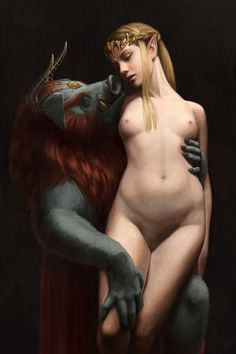 The Beast and The Princess - Nude version by astoralexander.deviantart.com on @DeviantArt