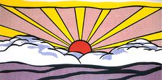 Roy Lichtenstein sunrise