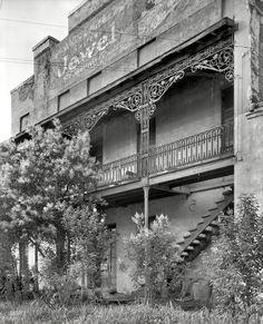 "1939. ""St. James Hotel, Selma, Dallas County, Alabama. Building dates to circa 1840. Now market warehouse. Three story brick masonry, two st..."