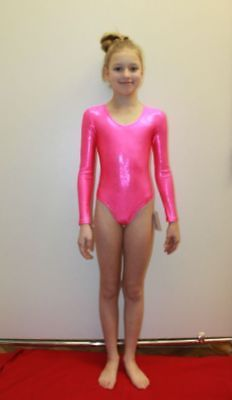 540929d3ac47 Studio White Shark 101-00 Pink Holography Spandex Gymnastic Girl ...