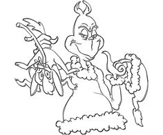the grinch coloring pages pdf | The Grinch Coloring Pages : Free Printable The Grinch PDF ...