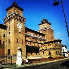 Estense Castle, Ferrara - Instagram by @rudybandiera