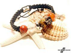 Pirate - custom made microcord-beads bracelet