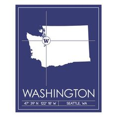 University Of Washington Map, $112, now featured on Fab.