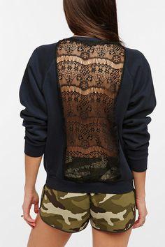 Urban Renewal Lace Back Sweatshirt