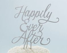 Classic Happily Ever After Cake Topper - Wedding Cake Decor By Kate Aspen