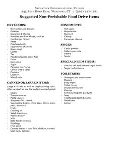 Want to donate something useful to the local food pantry Here are