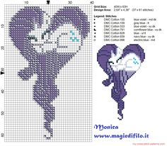 Rarity heart cross stitch pattern