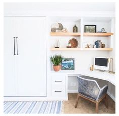 Home Office Decor, Farmhouse Murphy Beds, Interior, Murphy Bed Office, Home Decor, Modern Murphy Beds, Trendy Home, Guest Room Office Combo, Murphy Bed Diy