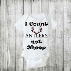 Counting Antlers Not Sheep/ Baby boy onesie/ Baby boy outfit/ Camo baby boy onesie/ Deer onesie/ deer hunting/ hunting onesie/ baby by BeutiqueCreations on Etsy