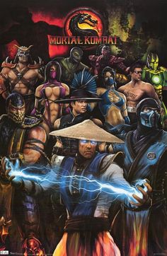 Mortal Kombat Cast of Characters Video Game Poster 22x34