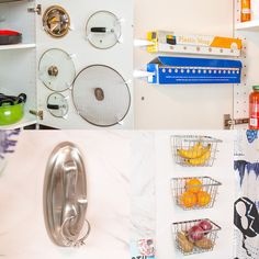 Adhesive Hook Hacks For Kitchen Organization
