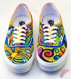 Custom painted vans shoes 80
