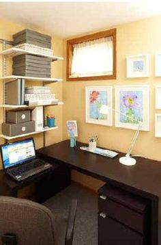 """Virtually"" Organized.  I helped this family organize their home office without stepping foot in their house!  Now this project is featured in Better Homes & Garden's book:  ""Organize Your Home - Clutter Cures for Every Room."""